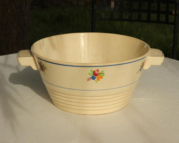 Rare French Vintage Faience Art Deco Hand Painted
