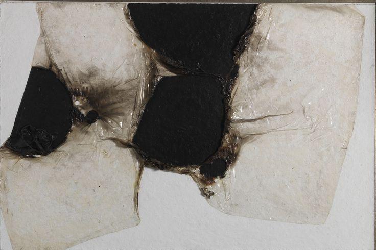 Alberto Burri, Bianco Plastica BL1, (1964)