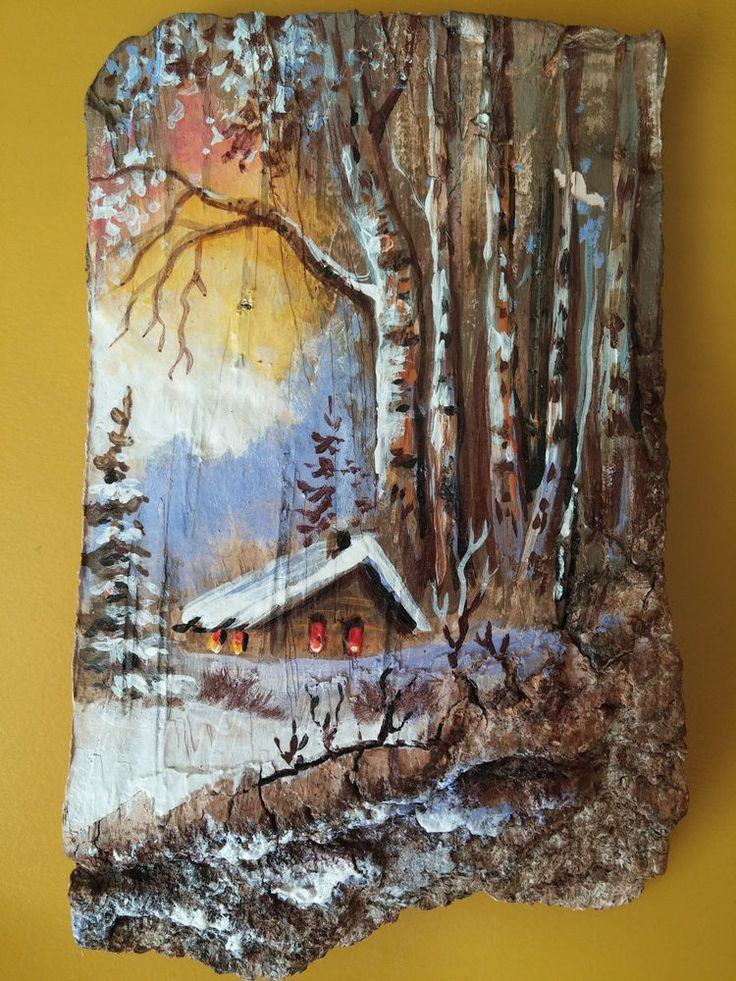 Handmade Birch Bark Decor Fridge magnet collection souvenir picture Moldova  #Handmade
