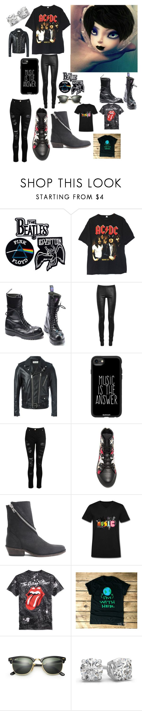 """""""BJD Concept"""" by ris66 ❤ liked on Polyvore featuring Floyd, Commando, Rick Owens, Yves Saint Laurent, Casetify, Dorothy Perkins, Hilfiger Collection, John Fluevog, Ray-Ban and men's fashion"""