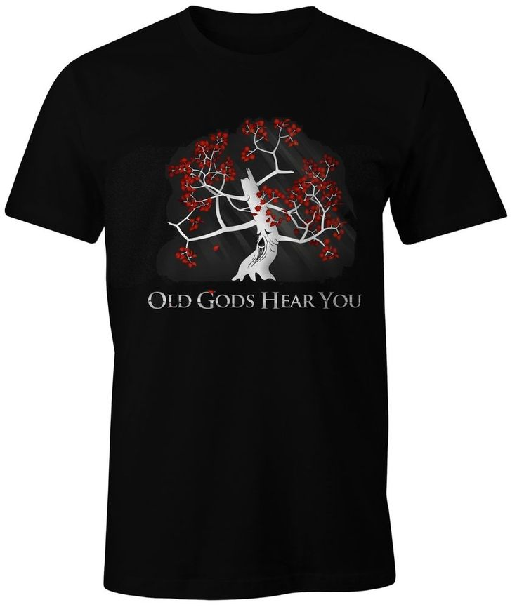 Game of thrones new t shirt old gods hear you personalized tee 100% cotton  print