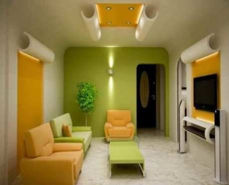 42 cat ruang keluarga warna kuning ide paling bagus