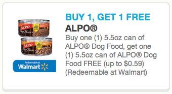 Alpo Dog Food Coupon - Buy 1 Get 1 FREE!