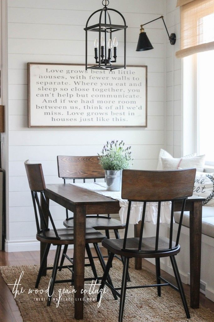 New Breakfast Nook Chairs Small Farmhouse TableFarmhouse