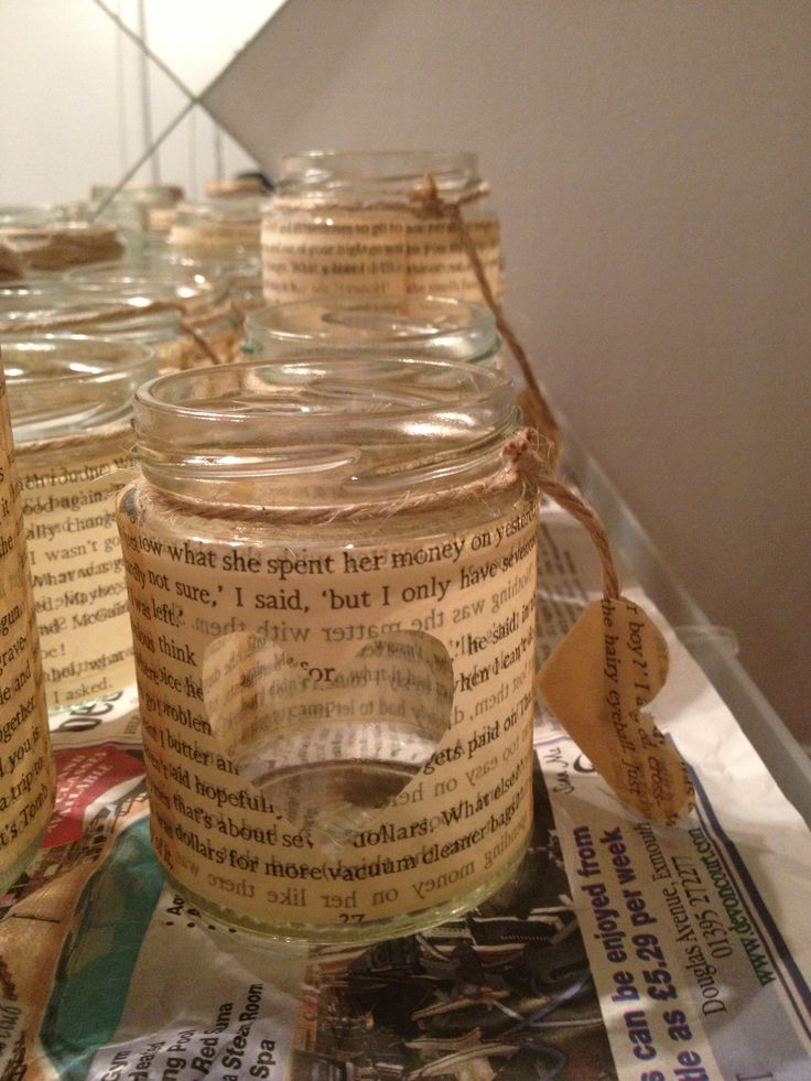 Jam jar tealight holder