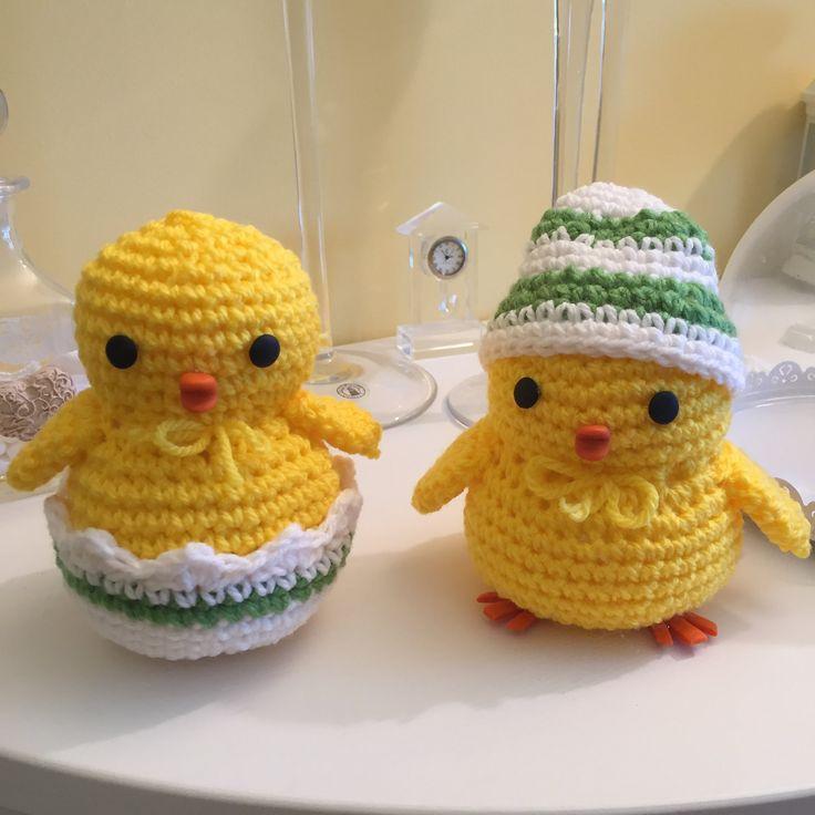 pulcino Amigurumi (tutorial-schema)/ how to crochet a chick Amigurumi