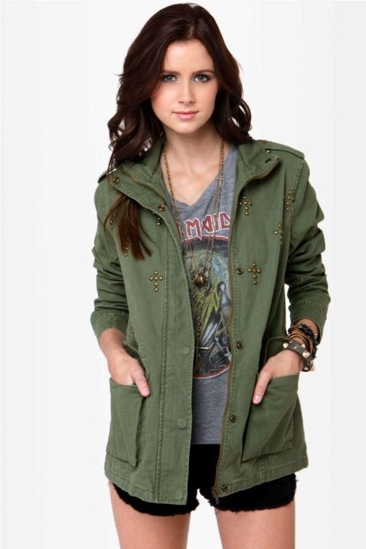 green-military-jacket