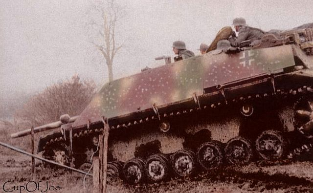 Jagdpanzer IV/L70 (V) Ardennes Offensive | Colorized by CupO… | Flickr