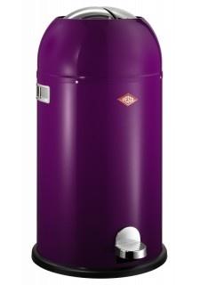 POUBELLE DE CUISINE KICKMASTER 33L VIOLETTE    Référence : 180 631-36  La poubelle de cuisine Kickmaster violette. Le plus de la poubelle Kickmaster : l'ouverture en haut qui se ferme silencieusement et empêcheles mauvaises odeurs. L'ouverture se fait au pied grâce à une pédale robuste.Nouvelle couche…  Sac poubelle : N°5  Hauteur seau intérieur : 48,4 cm  Hauteur poubelle : 69,0 cm  Diamètre seau intérieur : 30,0 cm  Diamètre poubelle : 37,5 cm  Contenance : 33L