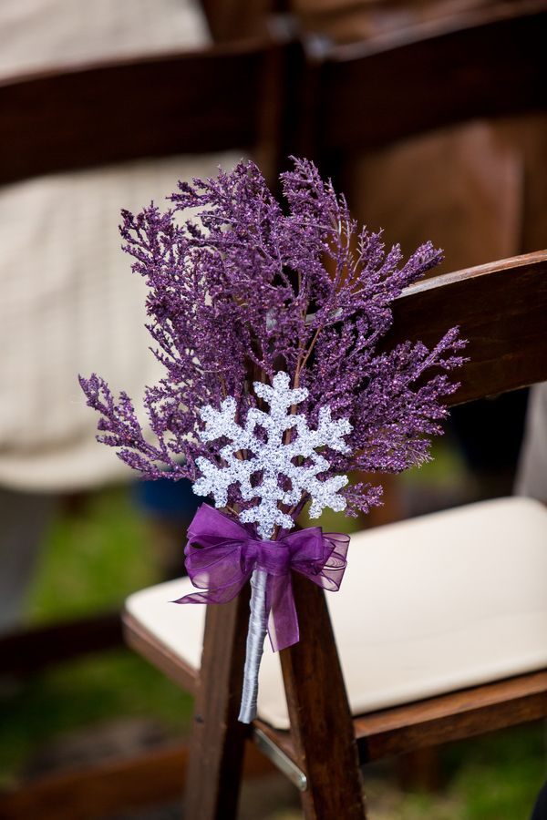 {Purple and Silver} Winter Wedding in Texas|Photographer: Jennifer Weems Photography