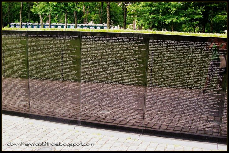 "So many lives were lost during the Vietnam War - they are listed here at the Vietnam Veterans Memorial in Washington DC. Find out more at ""Down the Wrabbit Hole - The Travel Bucket List"". Click the image for the blog post."