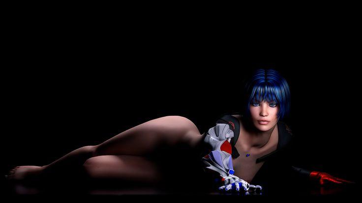 Девушка робот в 3D