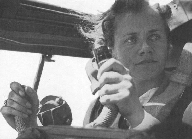 Hanna Reitsch in the cockpit of a glider, date unknown