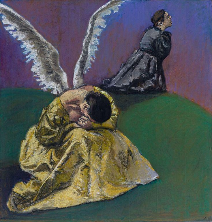 """""""Agonia no Horto"""" - 2002. Paula Rego inspirou-se em alguns  episódios Biblicos para as suas obras e usa com muita frequência o pastel como técnica artística."""