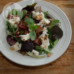 Bacon and black pudding salad with walnuts and mozzarella @ allrecipes.co.uk