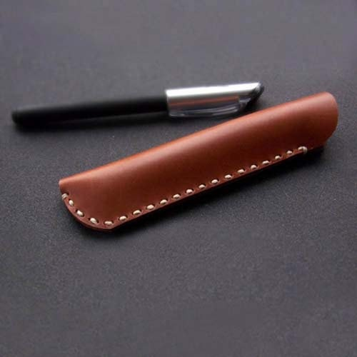 Handmade Leather Fountain pen case.