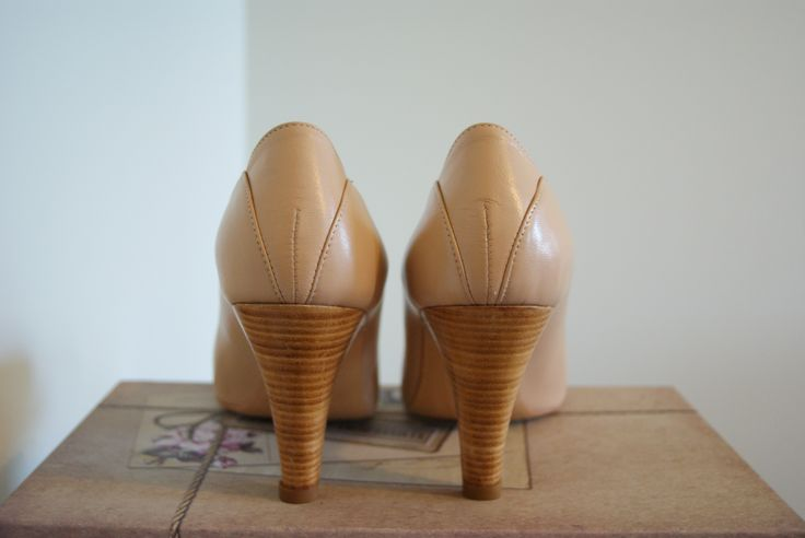 My wedding shoes from Agnes & Norman Peach skinn