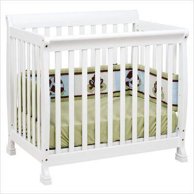 Bundle-94 Kalani Mini Convertible Crib in White (Set of 2)