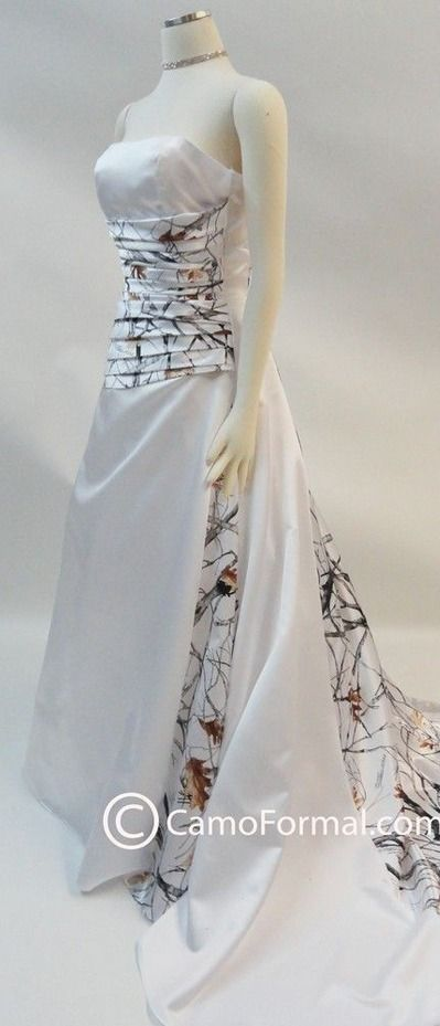Snow Camo Wedding Dress                                                       …
