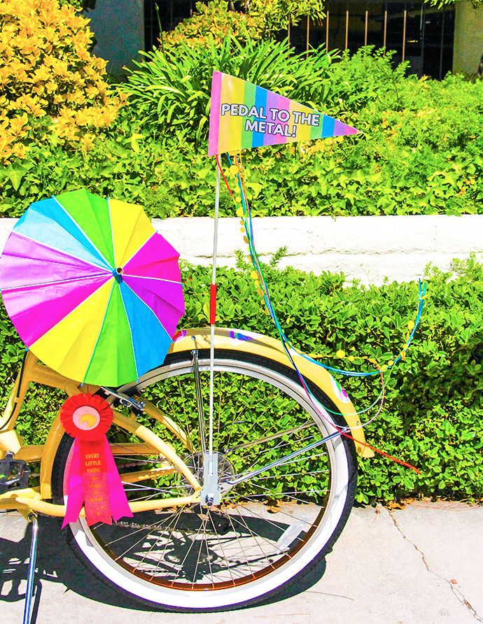 Give your bike some rainbow flair with this easy rainbow bike flag!