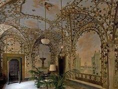 The 18th-century museum  of Casa Martelli, Giardino d'inverno (Winter Garden) fresco | http://www.polomuseale.firenze.it/en/musei/?m=casamartelli