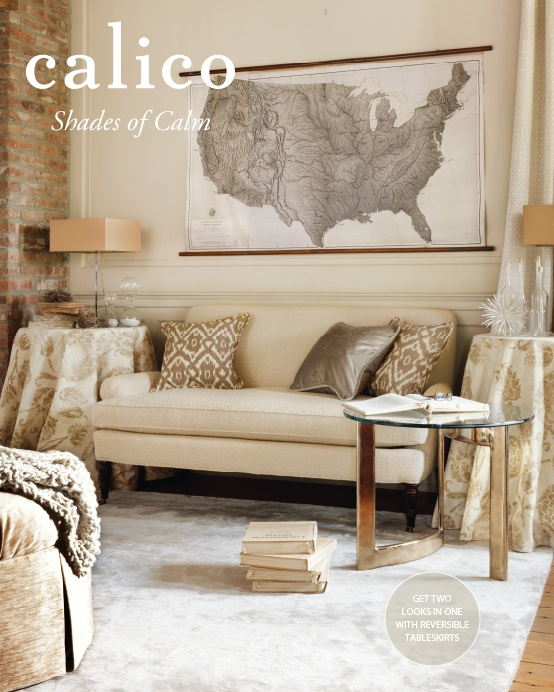 Shades of Calm. Enter to win a Calico gift card. #CalicoCatalog - beautiful neutrals and I love that coffee table (who makes it?)