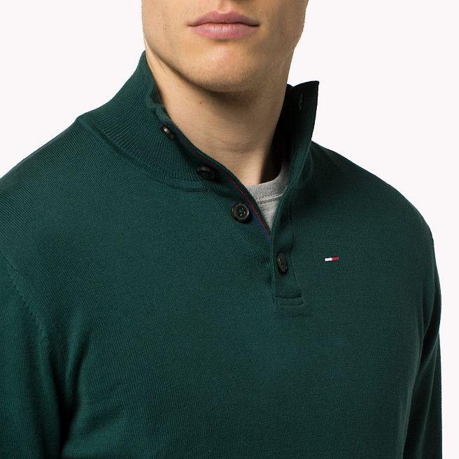 c8da5554a Tommy Hilfiger Premium Cotton Sweater - june bug-pt (Green) - Tommy Hilfiger  Jumpers - immagine dettaglio 2