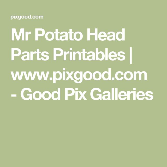 mr potato head parts pdf