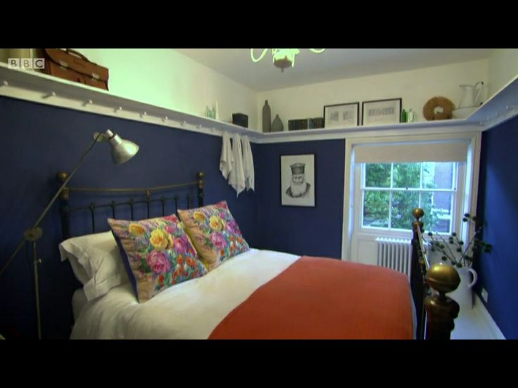 Great Blue Wall Colour And Love The Shaker Pegs Shelf