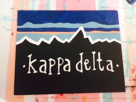 Kappa Delta Mountain Inspired Canvas by CanvasesByKara on Etsy