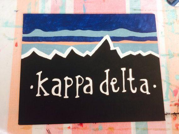 Kappa Delta Mountain Inspired Canvas by CanvasesByKara on Etsy