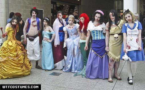 Disney Zombies... Amazing!: Zombies Apocalyp, Zombies Costumes, Disney Zombies, Halloween Costumes, Halloween Ideas, Costumes Ideas, Disney Character, Zombies Disney Princesses, Disney Costumes