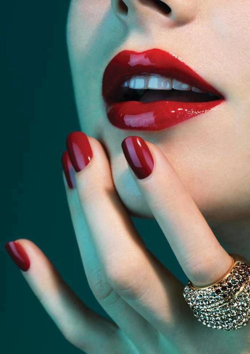 I had to pin this to two separate boards - the nails AND the lips are classic perfection!