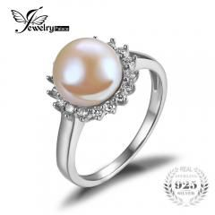 [ 50% OFF ] Jewelrypalace Classic 5.5Ct Natural Freshwater Pearl Ring 925 Sterling Silver Jewelry Engagement Wedding Love Gift For Women