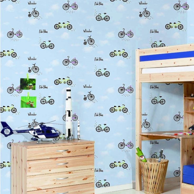 32 25 Watch Now Cartoon Children S Room Wallpaper Simple Blue Sky Environmental Protection
