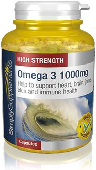 180 Capsule Tub - omega 3 capsules - take ONE a day (otherwise too much vit e with sanatogen)