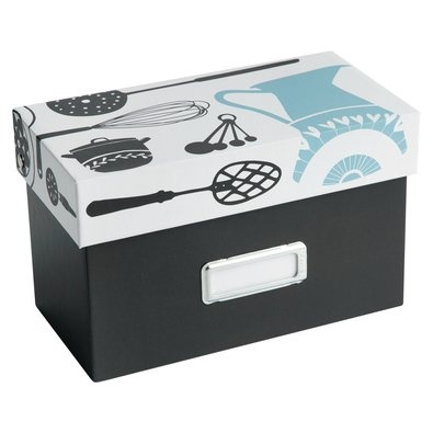 Recipe Box: Kitchen $39.95    File your favourite recipes according to cuisine in the stylish Recipe Box. Includes 48 recipe cards and 8 labelled divider tabs.    Running out of recipe cards? Simply pick up a recipe card refill pack, your Recipe Box can fit 150+ cards.    A perfect gift to anyone who loves being in the kitchen, as a house warming gift or a treat for yourself. Before you give it away, start with writing down your favourite recipe on a recipe card.