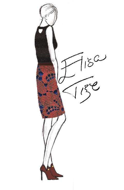 The ultimate outfit is a nice blouse/shirt, a pencil skirt and some stiletto shoes. Starting with that idea, I created this design. A nice t...
