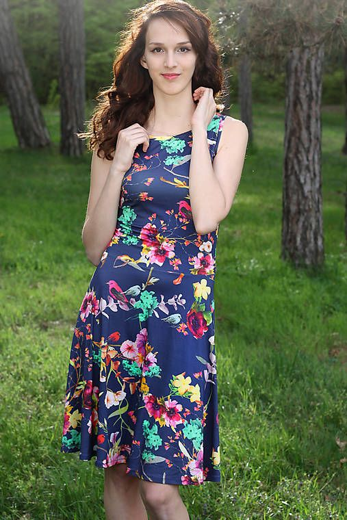 ZuzanaZachar / Kvetinové šaty s kruhovou sukňou...