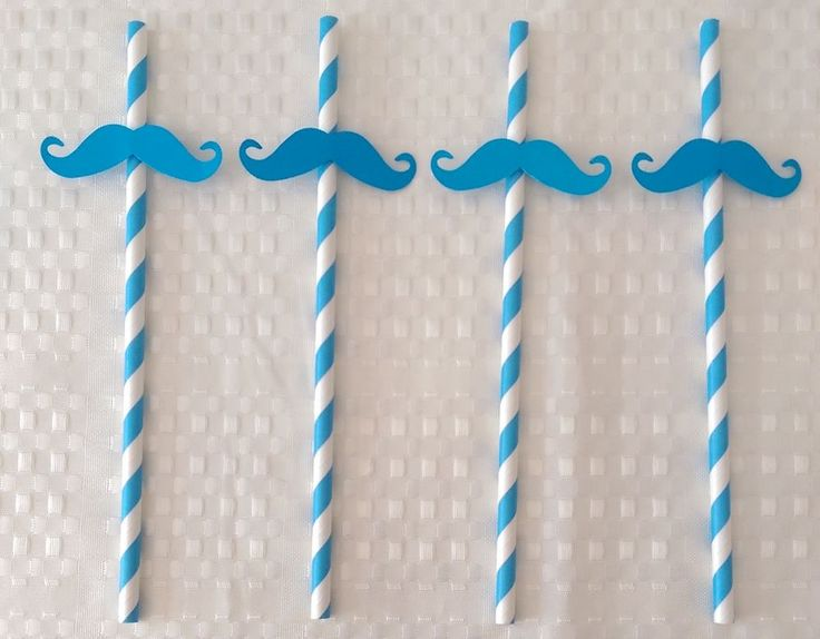 Moustache Straws 20 Blue Paper Straws Fantastic Straw for Movember Ready to Use