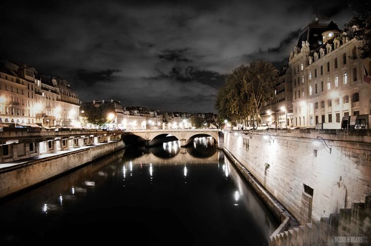 Evening on the banks of the Seine in Paris. photo by Beers & Beans