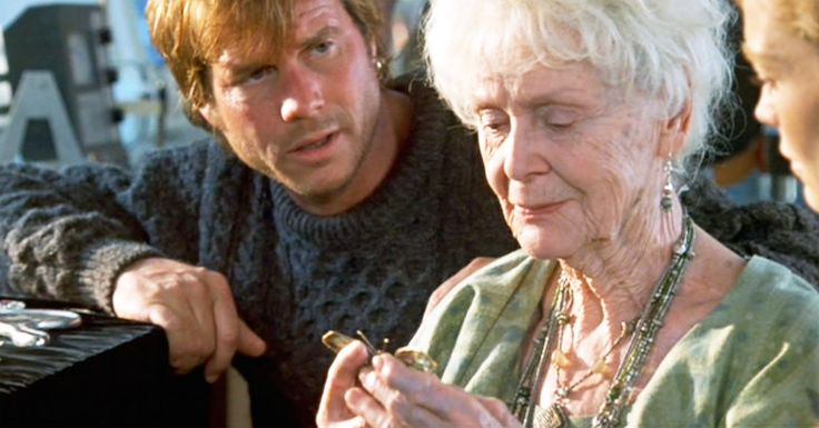 The late Bill Paxton and Gloria Stuart, as Brock Lovett and Rose Dawson Calvert - James Cameron's Titanic (1997)