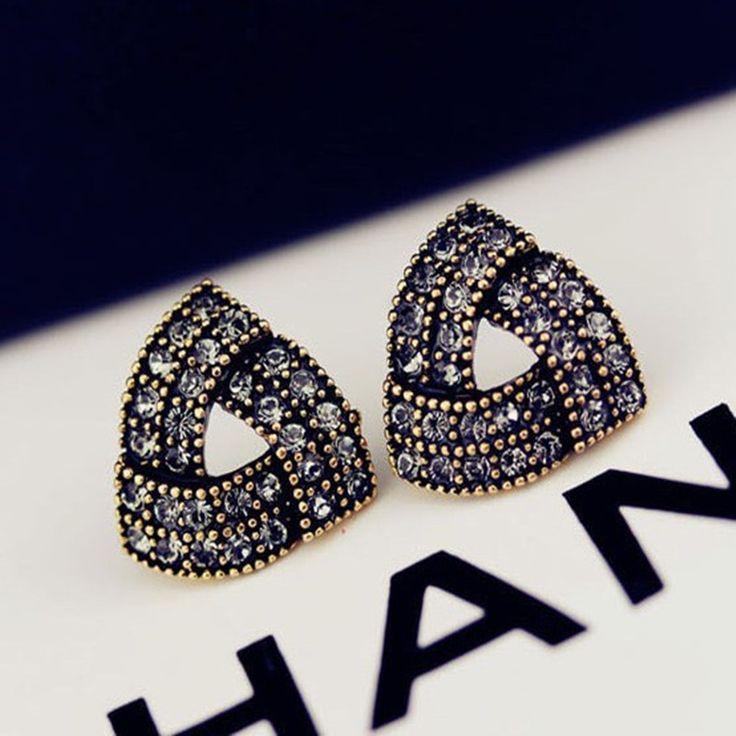 2015 Nieuwe Mode Oorbellen liefde Hot Koop Onregelmatige driehoek oorbellen voor Vrouwen Meisjes Brincos Sieraden parel sieraden