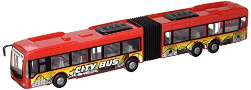 "Dickie Toys City Express Bus, 15""  The dickie toys city express bus: a nippy little racer!  Come to us and discover the exciting world of cars on a miniature scale.  The city express bus speeds across the carpet or wooden floor - with your child at the wheel.  The doors can be opened and closed automatically during the journey - just like the full-size version.  The vehicle is friction powered and gives children lots of exciting inspiration for pretend play!"