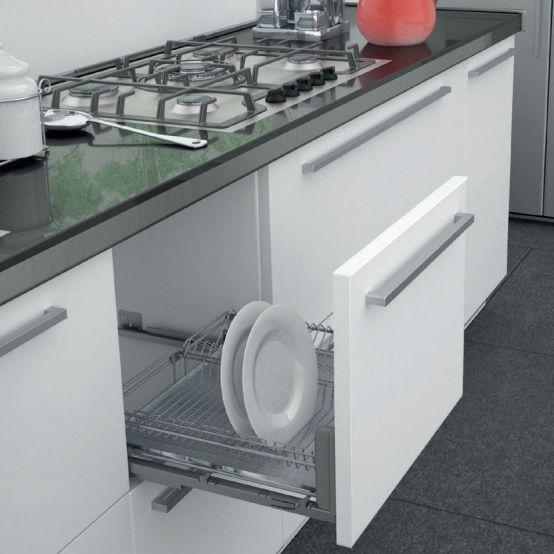 Resultado de imagen de escurreplatos fregadero cocina - Instalar un lavavajillas al fregadero ...