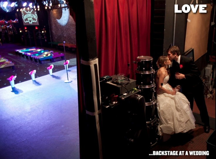 LOVE... BACKSTAGE AT A WEDDING :: Brooklyn Bowl = Food by Blue Ribbon + 16 lane bowling alley + 600 capacity live music venue :: located in Brooklyn, NY. // Find us on Twitter & Instagram @brooklynbowl - FB: http://bkbwl.com/gVLVzS // #BrooklynBowl - #BowlingAlley - #LiveMusicVenue - #BlueRibbonFood - #LiveMusic - #BrooklynBowlEvents - #BrooklynNightlife - #NYC - #Entertainment - #NewMusic -  #Concerts