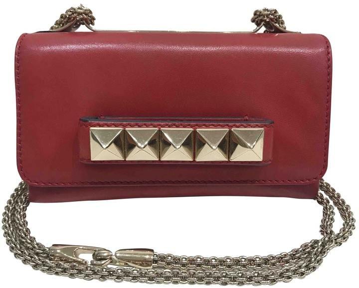 Valentino Vavavoom leather clutch bag