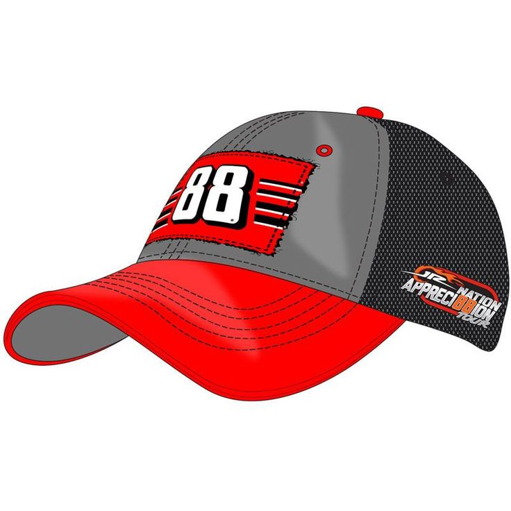 Dale Earnhardt Jr. Hendrick Motorsports Team Collection Women's JR Nation Appreci88ion Tour 2017 Homestead Adjustable Hat - Gray/Red
