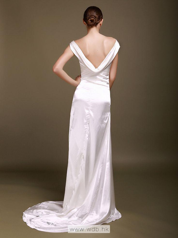 18 best wedding dresses images on pinterest short for Satin cowl neck wedding dress
