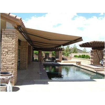 Aleko 13 ft. W x 10 ft. D Patio Awning Color: Sand